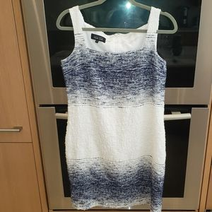 TERI JON Tank Dress in Navy White Sz 12